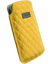 Krusell pouzdro Avenyn L - iPhone 4S/4, Nokia N8/C6/C7, HTC Desire/HD/Wildfire 62x116x12mm(žlutá)