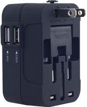 Multinabíječka se třemi světovými adaptéry, 2x USB