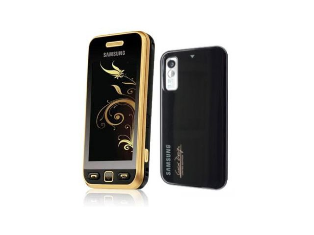 obsah balení Samsung S5230 Star Black Gold + pouzdro Krusell Gaia černé