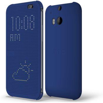 HTC flipové pouzdro Dot View pro HTC One (M8), modré