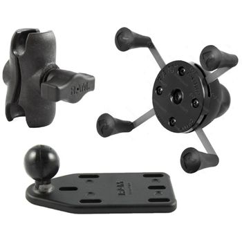 RAM Mounts univerzální držák na mobilní telefon s krátkým ramenem na motorku na nádržku brzdové kapaliny, X-Grip, sestava RAM-B-183-UN7B-AU