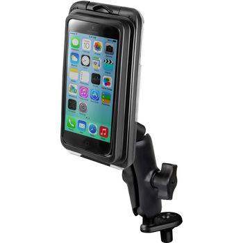 RAM Mounts vodotěsný držák na iPhone 5S, 5C, AQUABOX® Pro 20 i5 s úchytem na motorku na řídítka do středu vidlice, sestava RAM-B-176-AQ7-2-I5CU