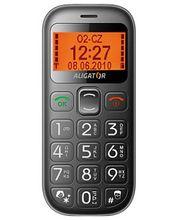 Aligator A340 černý - mobilní telefon pro seniory s lokátorem