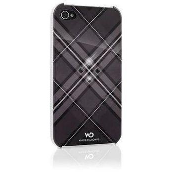 White Diamonds kryt Grid pro Apple iPhone 4/4S - černá