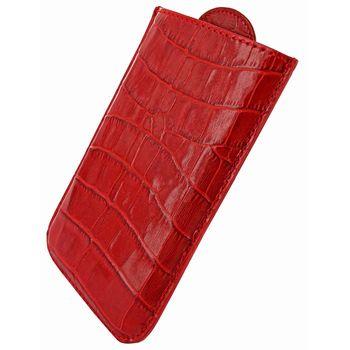 Piel Frama pouzdro pro BlackBerry Z10 Pull Style, Crocodile Red
