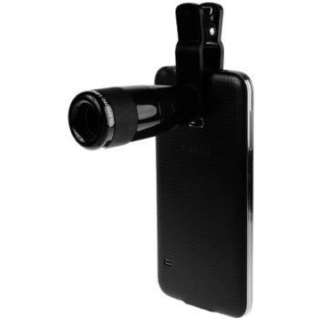 Brando 8x univerzální objektiv s klipem na fotoaparát, černý