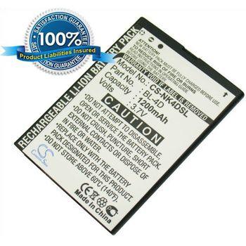 Baterie náhradní (ekv. BL-4D) pro Nokia E7-00, E5, N8, N97 mini, Li-ion 3,7V 950mAh