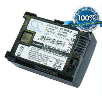 Baterie (ekv. BP-808) pro Canon videokamery FS10, FS11, FS100, Li-ion 7,4V 890mAh