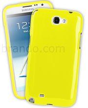 Pouzdro měkké plastové Brando - Samsung Galaxy Note II (bílé)