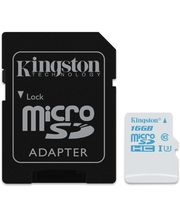 Kingston microSDHC 16GB UHS-I U3 Action Card, 45MB/s zápis + SD adaptér