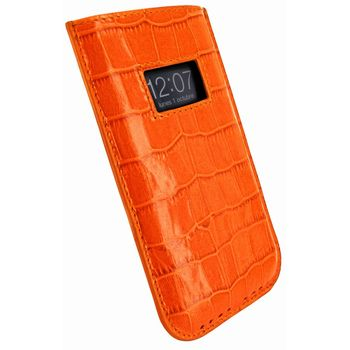Piel Frama pouzdro pro iPhone 5 Pull Case, Crocodile Orange