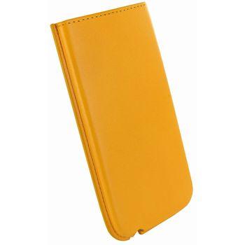 Piel Frama pouzdro pro iPhone 5 Pull, Yellow (kvalitní kůže, ruční výroba ve španělské manufaktuře)