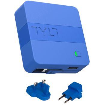 Tylt cestovní nabíječka do sítě 6000mAh energi 6K+ s lightning konektorem, modrá