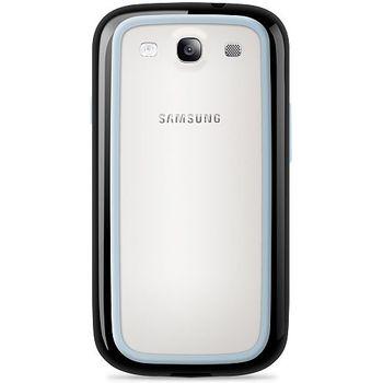 Belkin Surround Case silikonové/plastové pouzdro pro Samsung Galaxy S III, černé/bílé (F8M395cwC00)