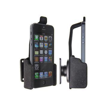 Brodit držák do auta na Apple iPhone 5/5S/SE bez pouzdra, bez nabíjení, s pružinovým jištěním, samet