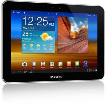 "Samsung Galaxy Tab 7300 32GB Wi-Fi + 3G 8.9 bílá + černé ochranné pouzdro se stojánkem Belkin pro Galaxy Tab 8,9"""