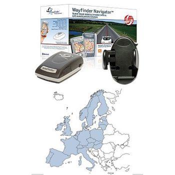 GPS navigace do auta, sada: GPS přijímač + Mapy Wayfinder Navigator6 (ČR,SK,EU, 12 měsíců) + Držák