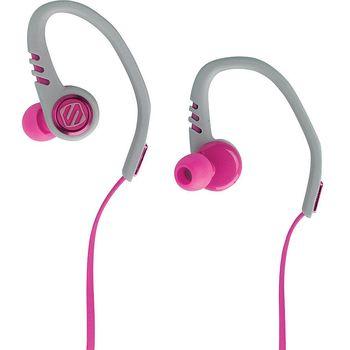 Scosche sportovní sluchátka s mikrofonem a ovládáním SportClip3, růžovo-šedé