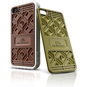Musubo pouzdro Sneaker pro Apple iPhone 4/4S - hnědá/olivová