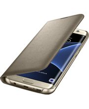 Samsung LED flipové pouzdro s kapsou EF-NG935PF pro Galaxy S7 edge, zlaté