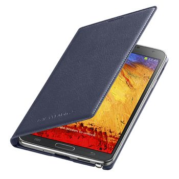 Samsung flipové pouzdro s kapsou EF-WN900BV pro Galaxy Note 3, tmavě modrá