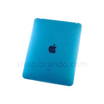 Pouzdro plastové Brando s kruhovým vzorem - Apple iPad (modrá)