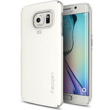 Spigen pouzdro Thin Fit pro Samsung Galaxy S6 edge, bílá