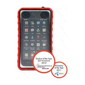 Krusell pouzdro vodotěsné SEaLABox XL-Galaxy S II/S, HTC Sensation/Desire/HD 125x69mm (oranž.)
