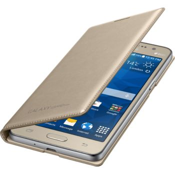 Samsung flipové pouzdro s kapsou EF-WG530BF pro Galaxy Grand Prime, zlaté