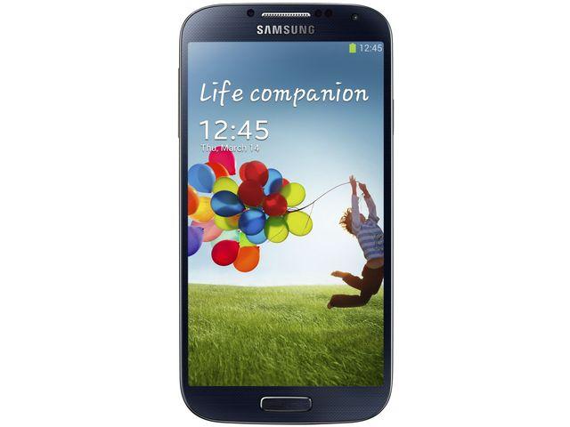 obsah balení Samsung Galaxy S 4 Black Mist + Flipové pouzdro Samsung, modré ZDARMA