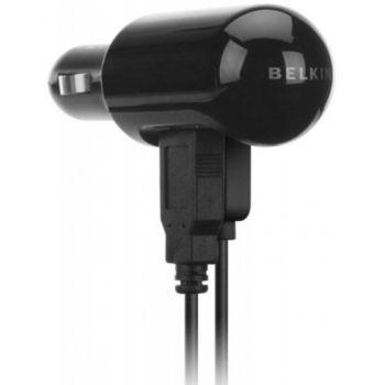 Belkin duální USB nabíječka do auta 1A/0,5A, vč. Apple a MiniUSB kabelu (F8Z280ea)