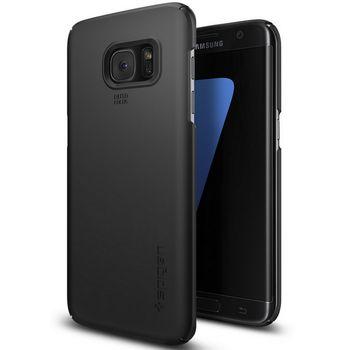 Spigen pouzdro Thin Fit pro Galaxy S7 edge, černé