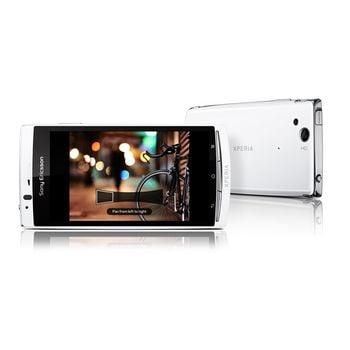 Sony Ericsson Xperia arc S bílý + držák do auta Brodit bez nabíjení