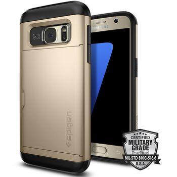 Spigen pouzdro Slim Armor CS pro Galaxy S7, zlaté