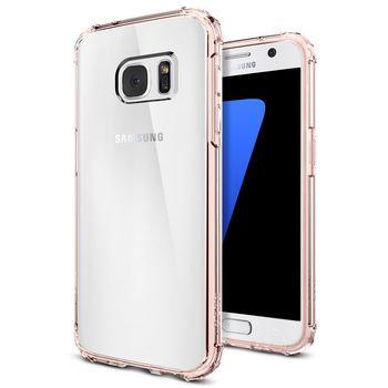 Spigen pouzdro Crystal Shell pro Galaxy S7, růžové