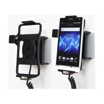 Brodit držák do auta na Sony Xperia S bez pouzdra, s nabíjením z cig. zapalovače