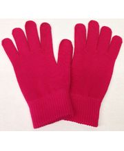 Zimní rukavice pro kapacitní displeje, bavlněné - růžová