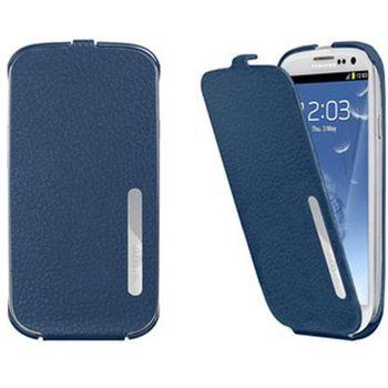 ANYMODE pouzdro flap pro Samsung Galaxy S3, PU kůže, antibakteriální provedení, modré