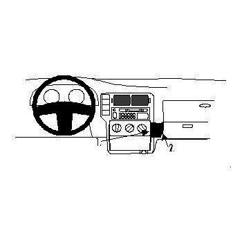 Brodit ProClip montážní konzole pro Volkswagen Polo 98-99, NE pro duální airbag, na střed vpravo