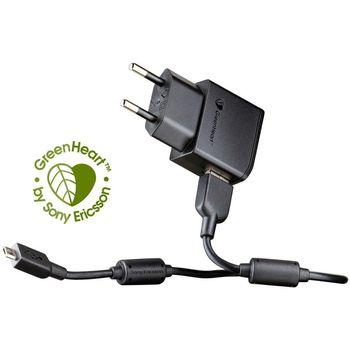 Sony Ericsson úsporná síťová mininabíječka EP800 microUSB, černá - bulk