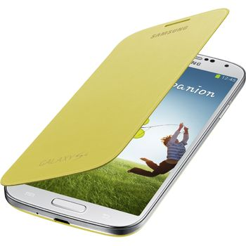Samsung flipové pouzdro EF-FI950BY pro Galaxy S4 (i9505), žluté