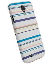Krusell PrintCover pro Samsung Galaxy S4 - modré pruhy