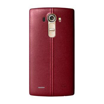 LG kožený zadní  kryt CPR-110 pro LG G4, červený