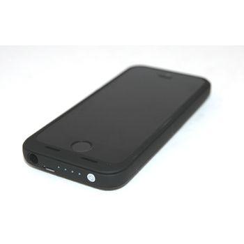 Záložní baterie pro iPhone 5/5S, 2500mAh, černá + PanzerGlass sklo pro Apple iPhone 5/5S/5C