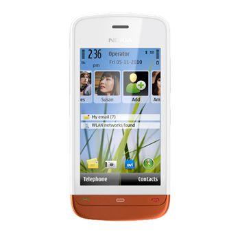 Nokia C5-03 White Burned Orange