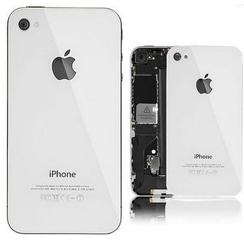 Náhradní díl zadní kryt pro iPhone 4, bílý