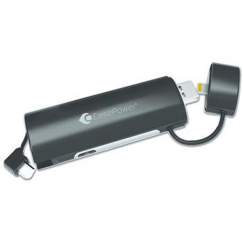 CasePower A90 záložní baterie s Lightning a microUSB konektorem, 2600mAh, černá