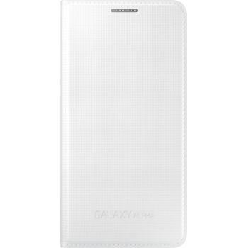 Samsung flipové pouzdro EF-FG850BW pro Galaxy Alpha, bílá