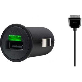 Belkin Apple iPhone/iPod microUSB nabíječka do auta vč.kabelu - 1A (F8Z571cw03)