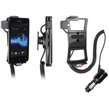 Brodit držák do auta na Sony Xperia J bez pouzdra, s nabíjením z cig. zapalovače